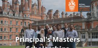 Royal Holloway Principal's Master's funding
