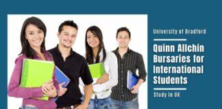 University of Bradford Quinn Allchin Bursaries for International
