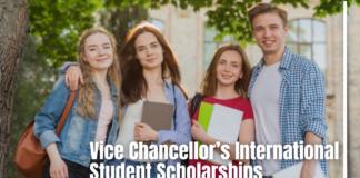 Vice Chancellor's International Student Scholarships