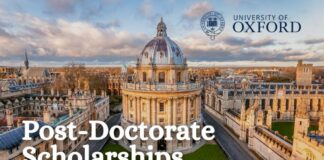 Post-Doctorate Scholarships at University of Oxford