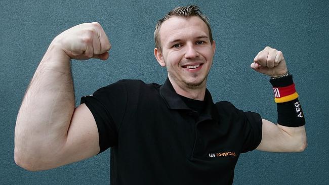 human popeye arm wrestler