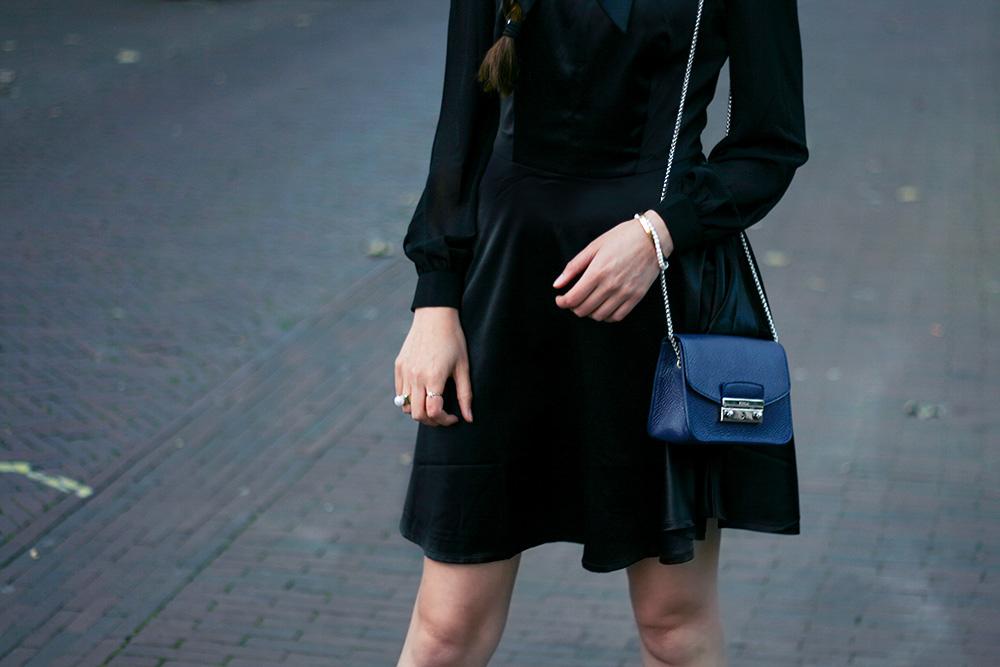 little black dress top vintage asos glitter boots furla bag 2