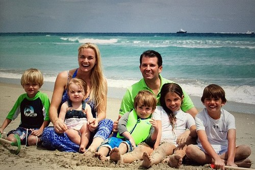Donald Trump Jr and his family